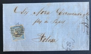1865 Burgos Spain Letter Sheet cover To Folosa