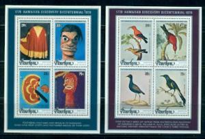 Penrhyn Island #96c, d  MNH  Scott $8.50   2 Souvenir Sheets