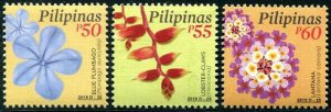 HERRICKSTAMP NEW ISSUES PHILIPPINES Sc.# 3815-17 Flowers 2019 Part 3 50, 55, 60p