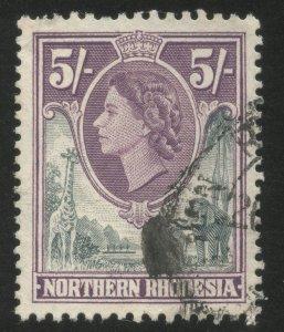 Northern Rhodesia stamp Scott# 72, SG 72, Used, Very Fine centering, 1953