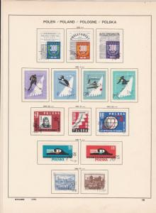 poland 1961 winter sports,post,  ships + other stamps page ref 17273