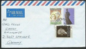 AUSTRALIA 1990 cover to Germany - nice franking - Sydney Pictorial pmk.....47293