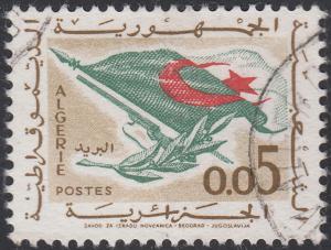 Algeria #296 Flag, Rifle, Olive Branch USED