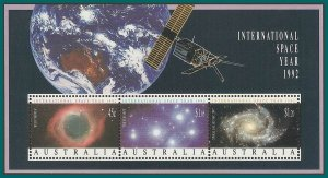 Australia 1992 Space Year, MS MNH  #1260a,SGMS1346