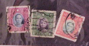 CHINA STAMPS #399-401 USED cat.$49.00