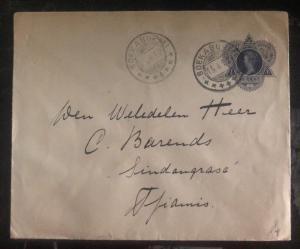 1912 Sukabumi Bandung Netherlands Indies Postal Stationary Cover To Tjiamis