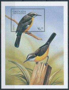 [108807] Grenada Grenadines 1999 Birds vögel oiseaux Bananaquit Sheet MNH