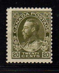 Canada Sc 119 1925 20c olive green GV Admiral stamp mint