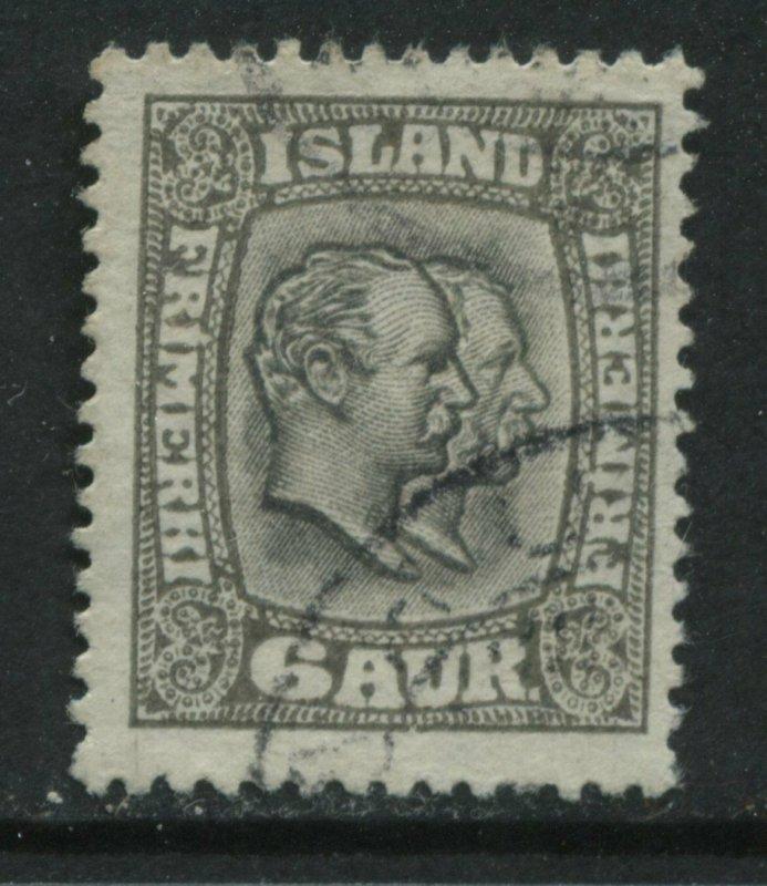 Iceland 1915 6 aurar used