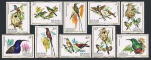 Rwanda 1130-1139,MNH.Michel 1214-1223. Nectar-sucking birds,1983.