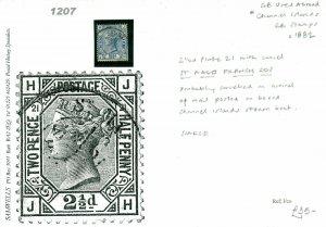 GB Used Channel Islands 2½d Plate 21 *St Malo* FRANCE CDS {samwells} 1207