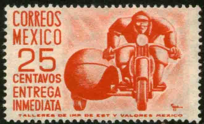 MEXICO E13, 25c 1950 Definitive wmk 279 UNUSED, NG. F-VF