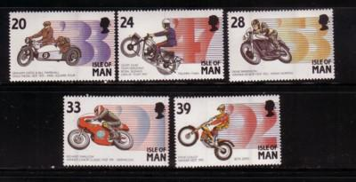 Isle of Man  Sc 562-6 1993 Motorcycle Events stamp set mint NH