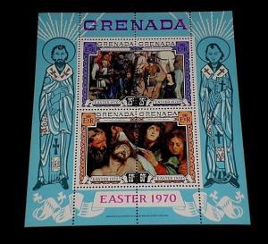 GRENADA #357a, 1970, EASTER, SOUVENIR SHEET, MNH, NICE LQQK
