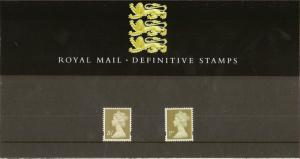 GB 1997 Machin Definitive Stamps - Presentation Pack No. 38