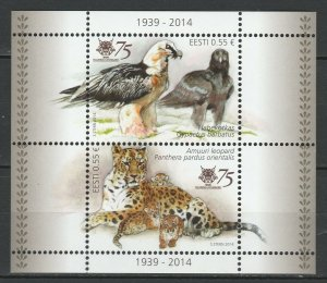 Estonia 2014 Fauna, Birds, Animals MNH Block