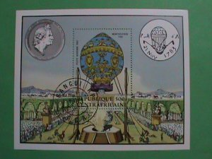 CENTRAL AFRICA STAMPS: 1983- THE FIRST HHOT BALLON OF JOSEPH MONTGOFIER S/S
