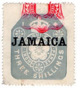 (I.B) Jamaica Revenue : Duty Stamp 3/- (die I)