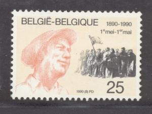 Belgium Sc 1342 1990 Labour Day 100 years stamp mint NH