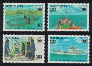 Kiribati Tuna Fishing Industry 4v SG#158-161 SC#380-383