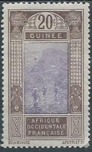 French Guinea 74 (mh) 20c ford at Kitim, brn & vio (1913)
