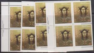 Canada USC #1091 Mint MS Imprint Blocks VF-NH 1986 Molly Brant Loyalist Indian