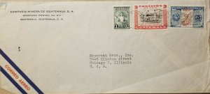A) 1948, GUATEMALA, COVER SHIPPED TO CHICAGO ILLINOIS-UNITED STATES, AIRMAIL, WO