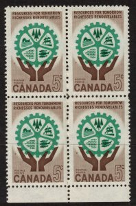 CANADA - 5c Resources for Tomorrow - SC395 Mint Block NH