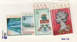 CAYMAN ISLANDS (MK6654) # 221-224  VF-MNH  VARsh,£1  1969 LANDMARK DESIGNS