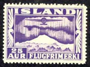 Iceland Sc# C17 MH 1934 25a Air Mail