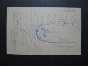 Germany 1941 Stettin From Waffin X Feldpost Card - Z10093