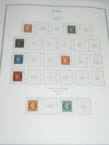 7 France Palo Premium Albums with Hingeless Color Pages 1849-2014 Retail $2700+