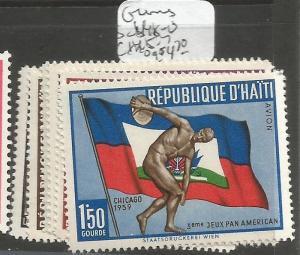 Haiti Games SC 448-50, C145-7 MOG (4cse)