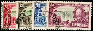 RHODESIA SG31-34, COMPLETE SET, FINE USED, CDS. Cat £42.