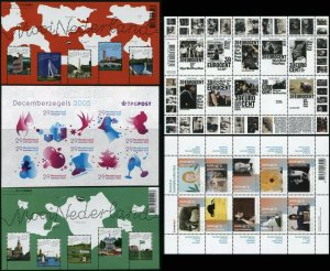 NETHERLANDS Postage Stamp Collection Sheets 2005 Mint NH