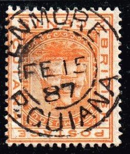 UK STAMP British Guiana 1887 NICE CDS