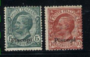 Italy-Piscopi #2-3   Mint F 1920-21 PD