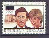 Togo 1981 Royal Wedding 500f on 1,000f perf unmounted min...