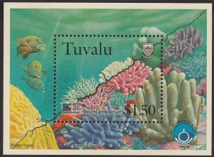 Tuvalu MNH M/S 780 International Year Of The Ocean Corals Marine Life 1998