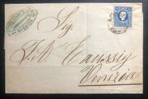 1858 Brescia Austrian Empire Vintage Letter Cover To Venezia