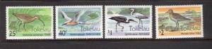 BIRDS - TOKELAU #190-193  MNH