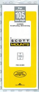 Prinz Scott Stamp Mount 105 / 265 Strip BLACK (10) (105 mm 105x265)