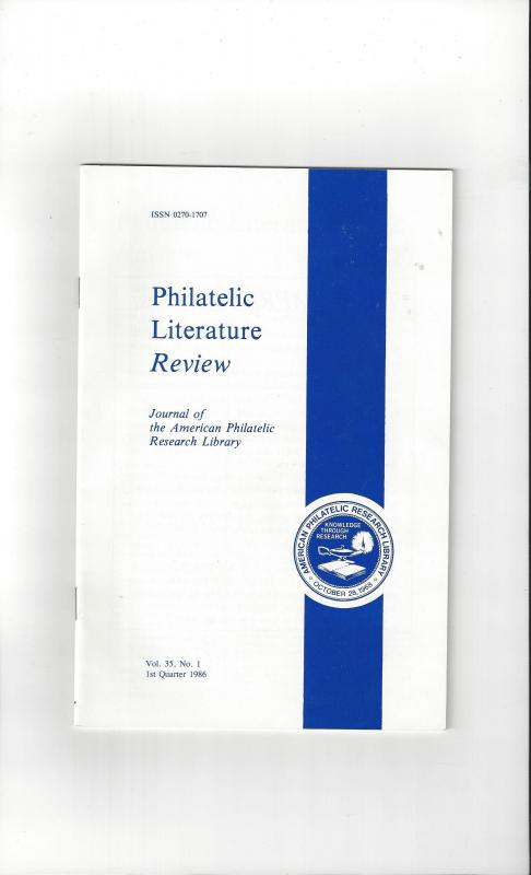 Philatelic Literature Review, Journal of American Philatelic Research Library