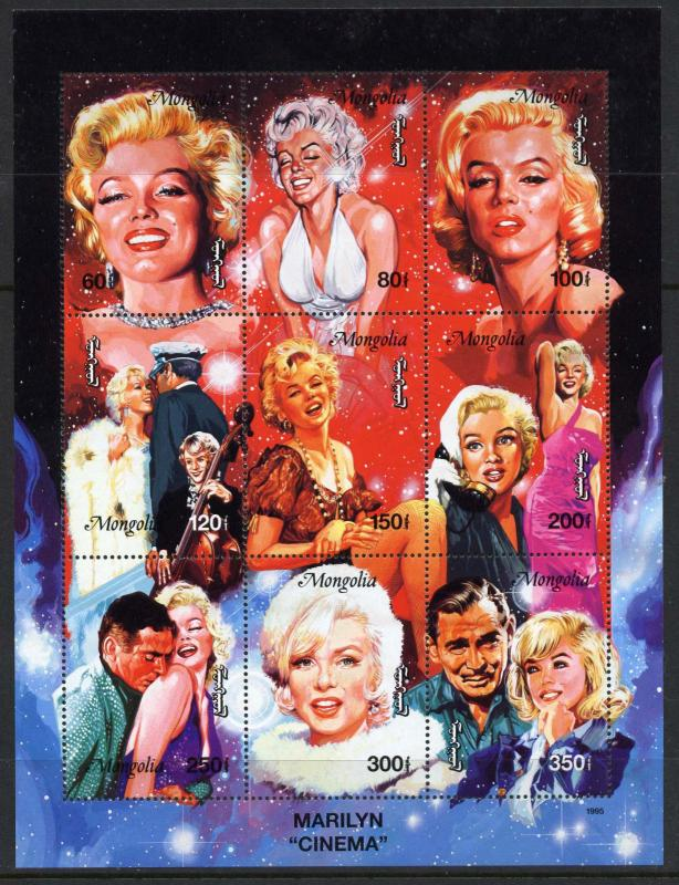 Mongolia 2222-6 MNH Marilyn Monroe, Ship, Movies
