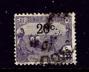 Tunisia 64 Used 1921 surcharge