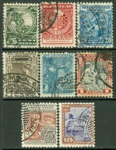 EDW1949SELL : MEXICO 1934 Scott #698-703, 705-06 Very Fine, Used. Catalog $3,479