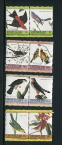 St. Vincent Union Island MNH 186-9 Pairs Birds