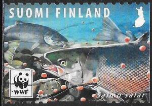 Finland 1562c Used - Endangered Species - Salmon