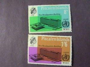 PITCAIRN ISLANDS # 62-63-MINT/HINGED-COMPLETE SET----QEII----1966