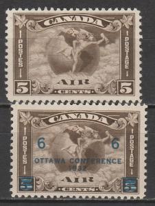 CANADA 1930 & 1932 AIRMAIL 5C & OTTAWA CONFERENCE 6C/5C